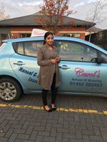 Farhana-passed-driving-test