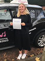 annie-mae-passed-driving-test-cheltenham