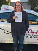 Carmen-passed-driving-test-October-2018