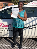 Eunice-passed-driving-test-October-2018