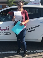 Jenny-passed-driving-test-july-2018