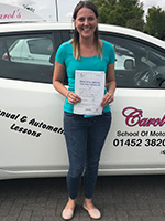 carmella-passed-driving-test-july-2018